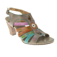 Women's Spring Step Lilac L'Artiste Collection Gray Leather Sandal