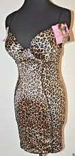 Maidenform Sweet Nothings SHAPER SLIP DRESS Leopard sexy 38D 36D 36C B Pushup