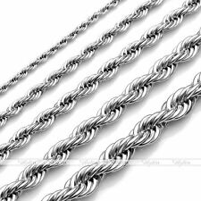 2mm 3mm 4mm 5mm 6mm Men's Stainless Steel Rope Chain Necklace Fit Jewelry DIY