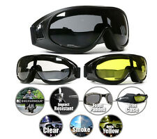 Motorcycle Fit Over Rx Glasses Goggles Riding Biker Sports Ski Yellow Clear Men