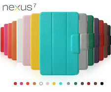 For 1st Gen Google Asus Nexus 7 Tablet  Leather Sleep/Wake Folio Stand case