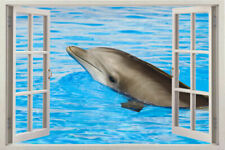 WINDOW 3D Wall Decal Sticker Dolphin Vinyl Dolphins Decor Ocean Sea Art Mural