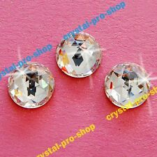 Genuine Swarovski 2072 Rose Cut Round (No Hotfix) Flat back Crystal Rhinestone