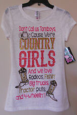 COUNTRY GIRLS Rodeo Fishin BigTrucks Tractor 4 Wheelin Boots Burnt Out T-Shirt