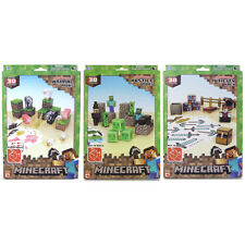 Minecraft Paper Craft 30+ Piece- Choice of 3 Sets Animal, Hostile or Utility