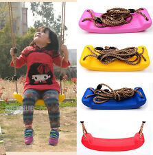 Plastic Garden Tree Swing Rope Seat Molded For Kid Children Child Gift Play