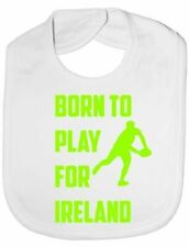 Born To Play For Ireland Irish Rugby Baby Feeding Bib Gift