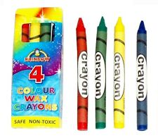 Choose! 10,20,30,40,50,100 Packs of 4 WAX CRAYONS Party Bag Stocking Filler Toy