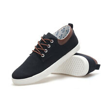 Men's Lace Up Flats Canvas Low-Top Board Flat Shoes Casual Loafers Sneakers