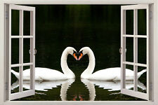 SWANS love Window View Removable Wall Art Stickers Vinyl Decal Home Decor home