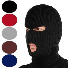 Unisex Winter Knit 3 Hole Ski Mask - in 5 Colors