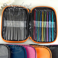 Dragonchant 22pc Multi colour Aluminum Crochet Hooks Yarn Knitting Needles Set