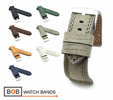 BOB Tanned Vintage Calf Watch Band/Strap, 20, 22, 24, 26 mm, 7 colors, new!