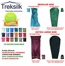 TREKSILK Regular - Mummy - Large Single Silk Sleeping Bag Liner Sleep Sack