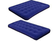 INFLATABLE SINGLE/DOUBLE AIRBED MATTRESS FLOCKED AIRBED CAMPING RELAXING LUXURY