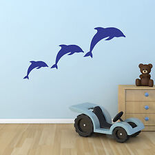Dolphins wall stickers - Dolphin pod / family wall decals