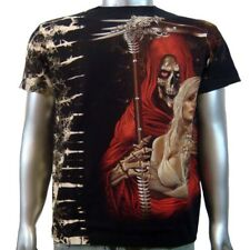 Grim Reaper Sexy Bikini Bra Top lady Gothic Emo Rock Tattoo Men T-shirt XL & XXL