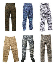 Military BDU Pants Digital Camouflage Cargo Army Fatigue Camo Trousers Bottoms