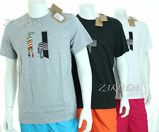 BNWT PAUL SMITH MEN'S JEANS TSHIRT CREW NECK ZEBRA PRINT REGULAR FIT MORE COLOUR