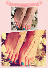 HOT Wild Women's Link Anklet Occident Toe Ring Bracelet Metal Ring Foot jewelry