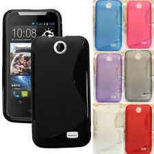 S Line Wave Soft TPU Gel Silicone Back Case Cover Skin For HTC Desire 310 D310W