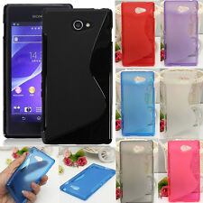 S Line Soft TPU Gel Silicone Case Cover Skin For Sony Xperia M2 S50h /Dual D2302