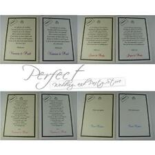 50 Wedding White Or Ivory Personalised Cash Money Gift Poem Honeymoon Cards