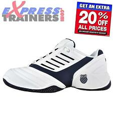 K Swiss Mens Surpass Classic Court Training Shoes Trainers White * AUTHENTIC *
