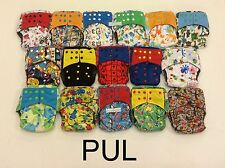 Happy Flute One Size (OS) All-In-One Cloth Diapers with 2 pockets, Natural fiber