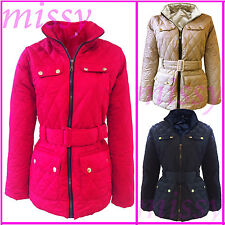 NEW KIDS JACKET GIRLS QUILTED PADDED BUTTON ZIP WINTER JACKET COAT SIZE 2-13YEAR