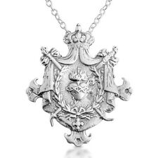 Sterling Silver Sacred Heart of Jesus Shield Pendant Necklace #Azaggi N0132S