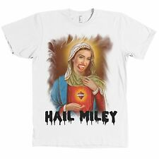 Hail Miley Cyrus Virgin Mary AMERICAN APPAREL T Shirt Fan Tee MADE IN USA NEW
