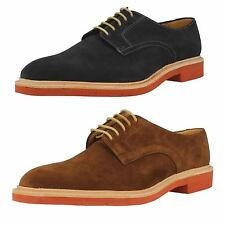 Loake SALE Morrison Brown Or Navy Suede Leather Plain Lace Up Shoes