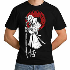 Wellcoda | NEW Japanese Samurai Sun Mens Womens Funny T-Shirt *o14