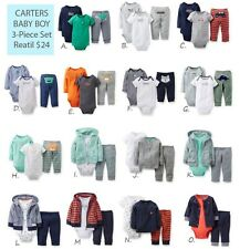 NWT Carters Baby Boys 3 Piece Bodysuit Set Clothes Newborn 3 6 9 12 18 24 months