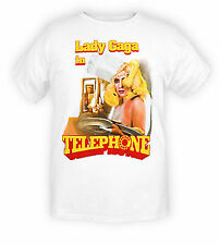 Lady Gaga In Telephone Waitress Hot Topic Exclusive White T Shirt Licensed NWT B
