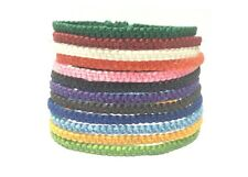 Fair Trade Skinny Wax Cotton Weave Thai Buddhist Wristband Handcrafted Wristwear