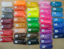 QUALITY LOOM BANDS 1 packet 300 bands/clips/hook     CHOICE 41 COLOURS