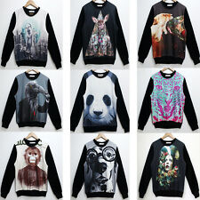 3D Digital Print Fleece Lined Animal/Galaxy/Fruit Sweater Jumper Sweatshirt