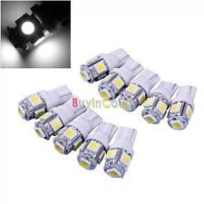 Durable T10 5050 Car White 5 SMD LED Light Bulbs 192 168 194 W5W 2825 Low Heat