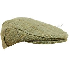 New Childrens Boys / Girls Derby Tweed Flat Cap Teflon Coated Hat Sizes: 50-54cm