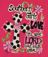 """Itsa Girl Thing Tee Shirt """"Southern Girls Love the Good Lord and Each Other"""" NEW"""
