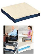 New Gel & Foam Cushion Back Lumbar Support Soft Pressure Relief Chair Pad Seat