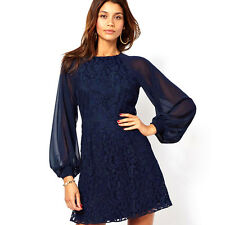 PROMOTION Long Sleeve Tops Blouse Skirts Prom Party Cocktail Evening Mini Dress