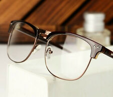 Fashion Hipster Vintage Retro Semi-Rimless Glasses Clear Lens Nerd Geek Eyeglass