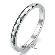 Tungsten Carbide Ring Classic Elegant Design Shinny Band Mens Womens Size 5-12
