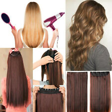 17/23/24/26 inchs Half Head Clip In Hair Extensions 5 Clips Long Remy Style mm