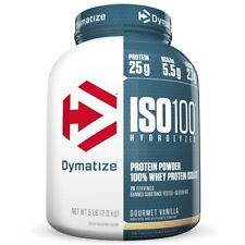 Dymatize ISO-100 Hydrolyzed Whey Protein Isolate 5 lbs AMINOS BCAA 25 Servings