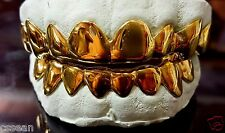14K Solid Yellow Gold Custom fit REAL Grill Gold Teeth GRILLZ.