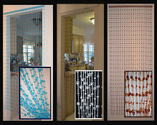 Hanging Beaded Door Curtains/Dividers - Round Earth Shape, 3 Colors Available